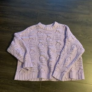 Aerie Lilac SuperSoft Sweater